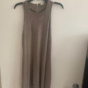 Fax suede dress
